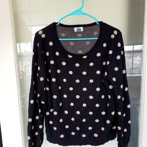 GAP Sweaters - Black polka dot sweater